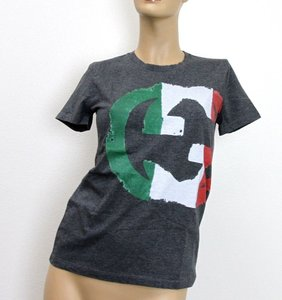 Gucci Womens Italy Flag T Shirt Gray