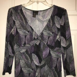 BCBGMAXAZRIA Top Purple Gray Black