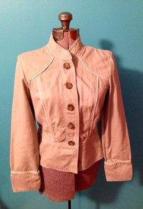 Mossimo Supply Co. Polyester Lace Cotton Loops Buttons Jacket