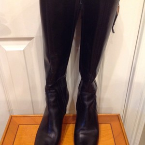 Brooks Brothers Italian Leather Leathersoles Silver Buckles Dark Brown Boots