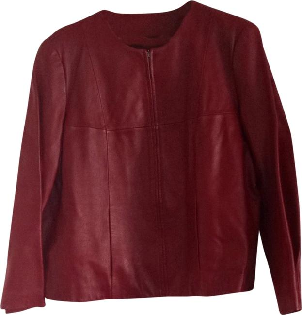 Item - Red Short Leather Jacket Size 20 (Plus 1x)