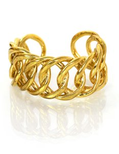 Chanel Chanel Vintage Goldtone Chain-Link Cuff