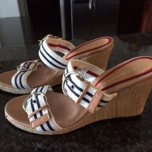 Tommy Hilfiger Navy/white Wedges