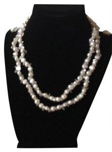 Coldwater Creek Freshwater Pearl Sterling Necklace Earring set