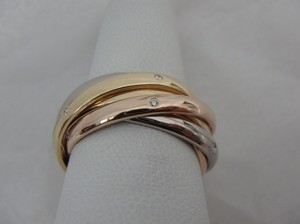Cartier Cartier 6 band Trinity Diamonds 18k gold Ring 52-us 6