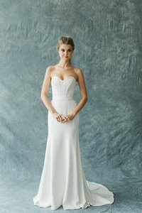 Carol Hannah Seamed Faille Bustier (does Not Include Skirt) Wedding Dress