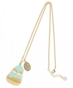 q pot Q pot Japan Mint Religieuse cute cream puff dessert Necklace