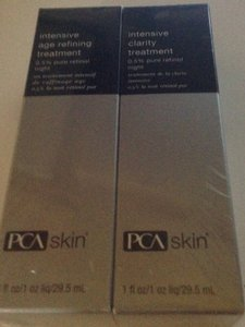 PCA skin age refining treatment ,& clarity treatment, night, 1 oz. each