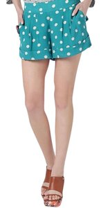 Anthropologie Tracy Reese Blue Silk Thegypsycharmer Dress Shorts Polka Dot