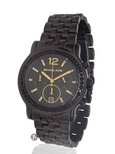 Michael Kors BRAND NEW WOMENS MICHAEL KORS (MK5984) BAISLEY BLACK ION CHRONO WATCH