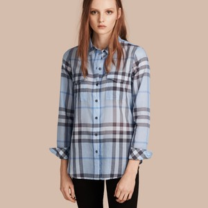 Burberry Brit Button Down Shirt Blue