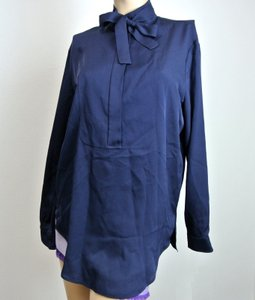 Gucci Silk Shirt Navy Top Blue