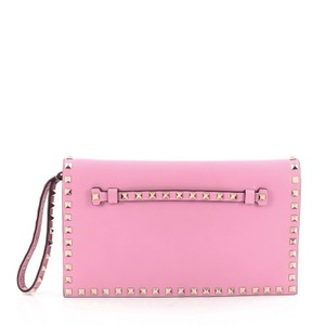 Valentino Leather Bubblegum Pink Clutch