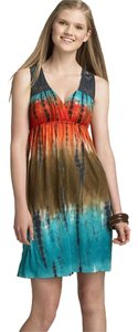 Soprano short dress multi color tie-die on Tradesy