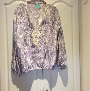 TAJ by Sabrina Crippa Top White and purple