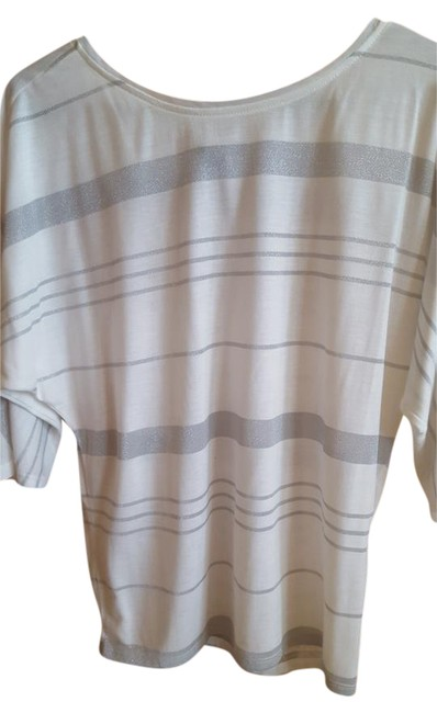 Item - with Silver Stripes . Tee Shirt Size 6 (S)