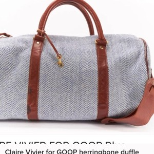 Clare V. Vivier Goop Travel Blue Travel Bag
