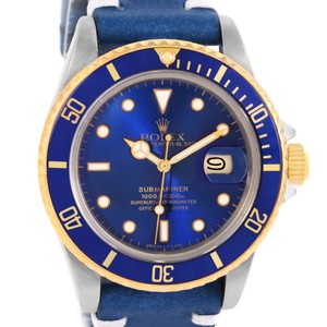 Rolex Rolex Submariner Stainless Steel 18K Yellow Gold Blue Dial Watch 16803