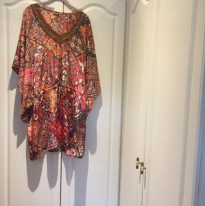 Parides short dress Orange, red, pink, print on Tradesy