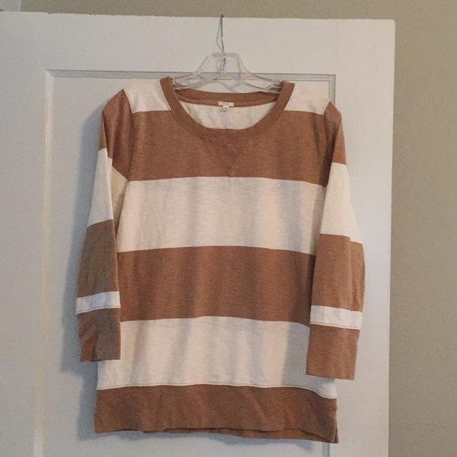 Item - Honey Brown and Off-white Spindrift Sweatshirt/Hoodie Size 8 (M)