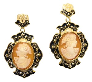 "AMEDEO Amedeo ""Barocco Italiano"" Enamel Cameo Earrings"