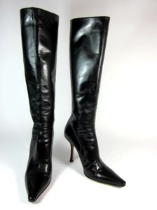 Jimmy Choo Black Leather Tall Boots