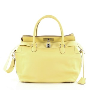 Hermès Hermes Leather Tote in Yellow