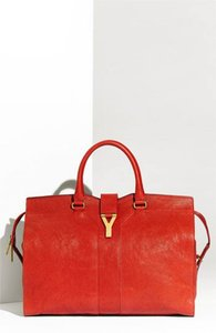 Saint Laurent New Ysl Cabas Chyc Y Ligne Satchel in Red