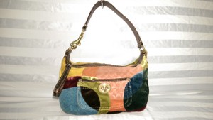 Coach Ergo Patchwork Satin Velvet Shoulder Bag