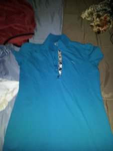Burberry Button Down Shirt TEAL/TURQUOISE