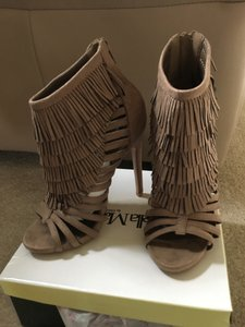 ANNA Footwear Fringe Strappy Taupe Sandals