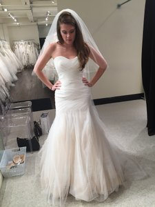 Bliss By Monique Lhuillier White Bl 15204 Modern Wedding Dress Size 6 S