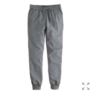 J.Crew Relaxed Pants Pinstripe Gray