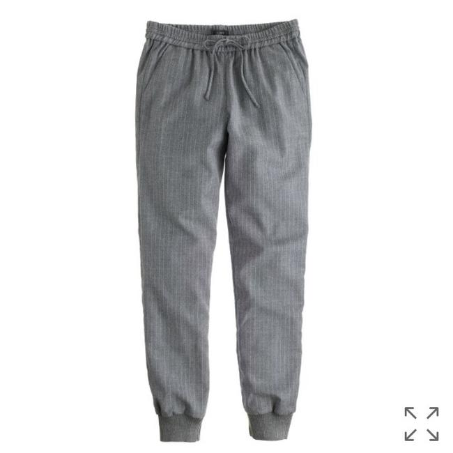 Item - Pinstripe Gray Drapey Wool Sweatpant Pants Size 4 (S, 27)