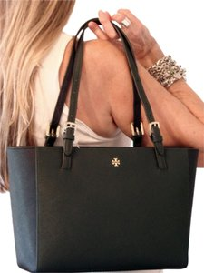 Tory Burch Tote in Tory Navy/Jitney Green