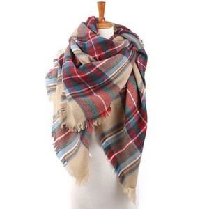 Tartan Plaid Pashmina Shawl Cape