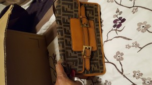 Fendi Camel/dark brown Clutch