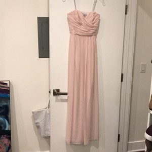 Monique Lhuillier Blush Strapless Gown Dress