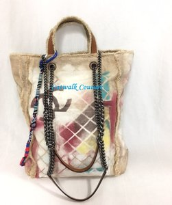 Chanel Graffiti Limited Canvas Water Color Tote in Multi