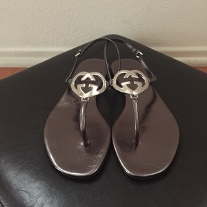 Gucci Metallic, Silver Sandals