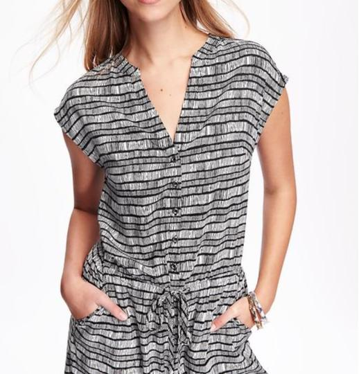 f762e3163d9 Old Navy Black And White Printed Wide-leg Romper Jumpsuit - 31% Off ...