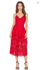 NICHOLAS Lace Midi Cocktail Dress