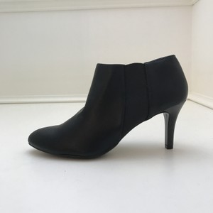 Impo Leather Heel Ankle Black Boots