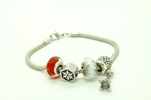 PANDORA Pandora Sterling Silver Charm Bracelet with Beautiful Charms