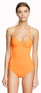 J.Crew J. Crew Underwire One-Piece Swimsuit in Neon Orange Size 6