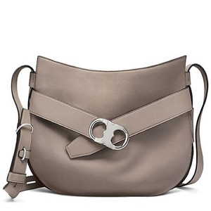 Tory Burch Pebbled Leather Neutral Hobo Bag