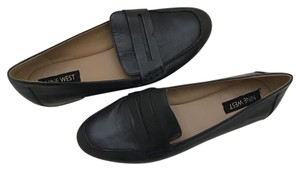 Nine West Loafer Leather Designer Black Flats