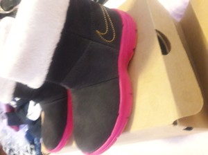 Nike Black and pink Boots