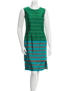 Dries van Noten short dress green on Tradesy