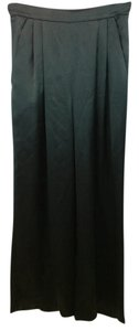 Carmen Marc Valvo Black Satin Pants